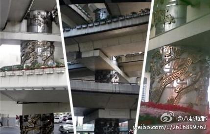 上海延安路龙柱_上海延安路高架桥下龙柱的传说