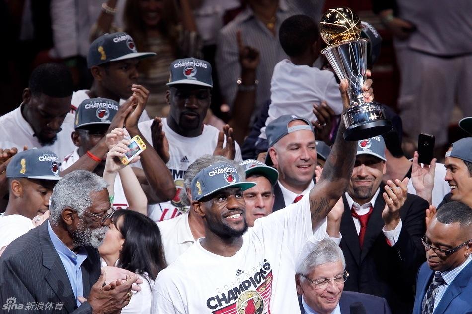 NBA总决赛 热火胜雷霆夺冠詹姆斯MVP图片