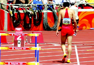 【刘翔抢跑:2008年尤金站110米栏预赛】-盘点刘翔历年大赛意外 伦图片