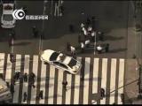 实拍美国纽约帝国大厦外枪击案现场视频