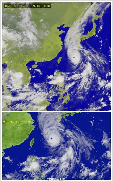 超强台风三巴卫星云图-超强台风三巴对上海影响不大 将横扫冲绳 正面图片