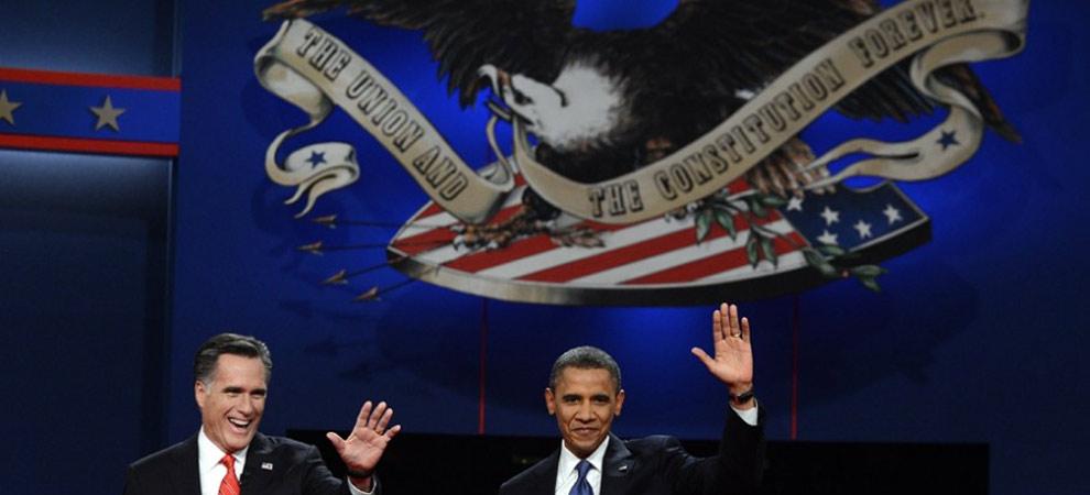 美国2012总统大选首场全国电视辩论会在科罗拉多州丹佛市举行