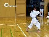 搞笑视频:5岁萝莉空手道基本练习 萌翻战