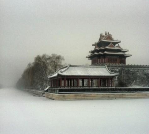 网友直呼下雪的紫禁城仿佛穿越到了北平-图集 北方降雪 北京紫禁城白