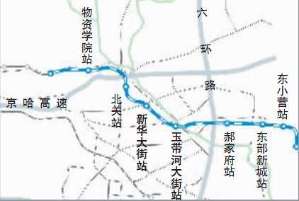 北京地铁6号线地图规划图曝光 新线暂无手机信号 试运营初期不限流