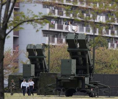 日部署爱国者3应对朝鲜 导弹口向朝瞄准