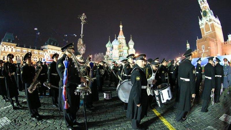 莫斯科红场阅兵式彩排——阅兵式开场准备
