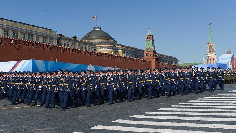 莫斯科红场阅兵:1.1万名俄罗斯官兵参加