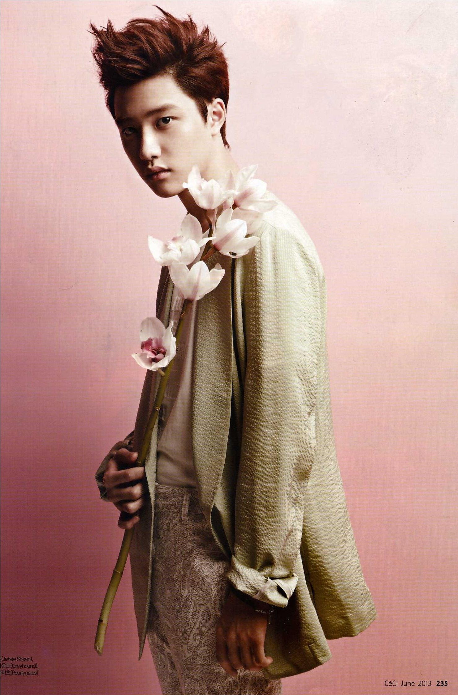 exo开启全面回归模式 杂志画报集体变身花美男