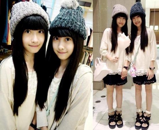 7年前,台湾萝莉双胞胎姐妹花姐姐sandy和妹妹mandy凭借相