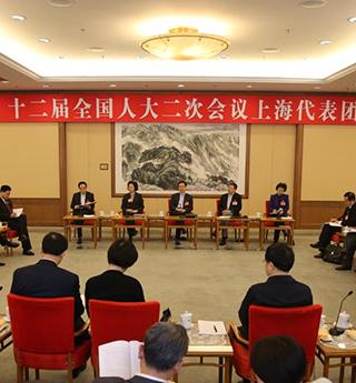 上海代表团全团审议两院工作报告