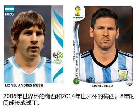 世界杯和2014巴西世界杯球星卡对比