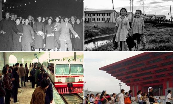 40张历史照片 见证上海65年城市变迁