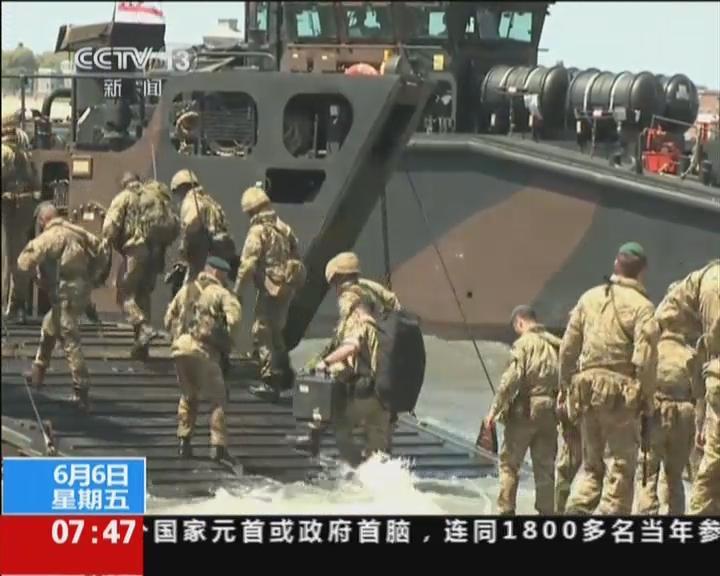 英国:士兵情景再现诺曼底登陆