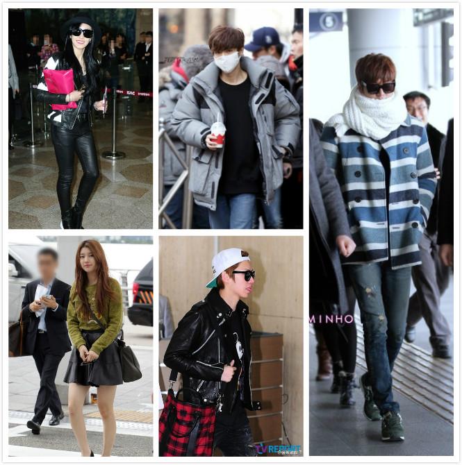 少女时代成员赴日本举行演唱会现身金浦机场