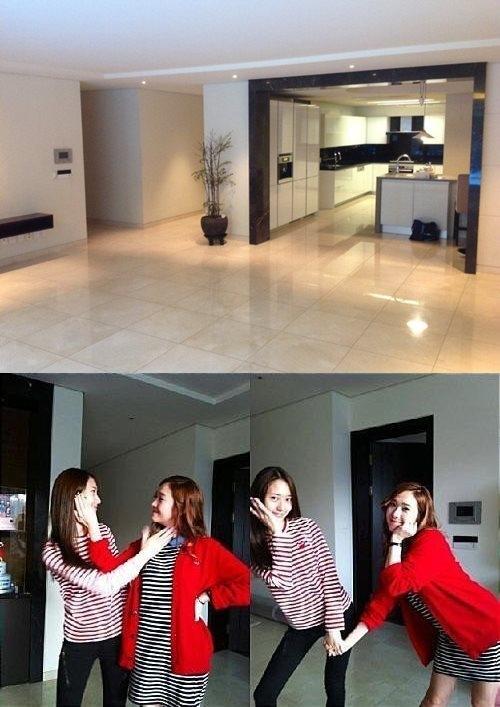 少女时代Tiffany美国LA公开豪华泳池住宅 徐贤
