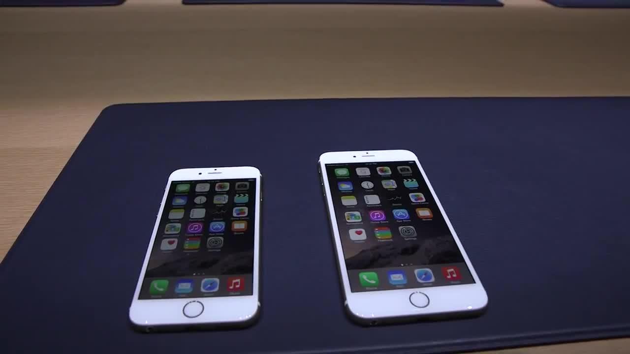 视频:苹果新手机iPhone6及iPhone 6 Plus真机上手实测
