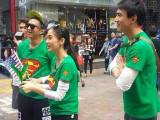 中国版running man首尔明洞拍摄花絮 超人标