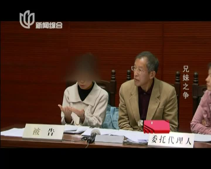庭审纪实20141011:兄妹