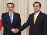 李克强会见泰国总理:共同建好中泰铁路 促进区域互联互通