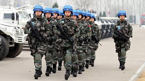 维和步兵营亮相