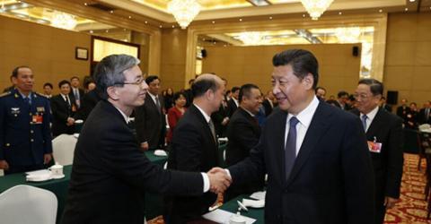 习近平等党和国家领导人分别看望政协委员