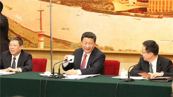 习近平与上海代表团共商国是