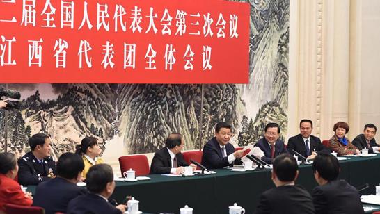 习近平参加江西代表团审议:反腐促进经济发展