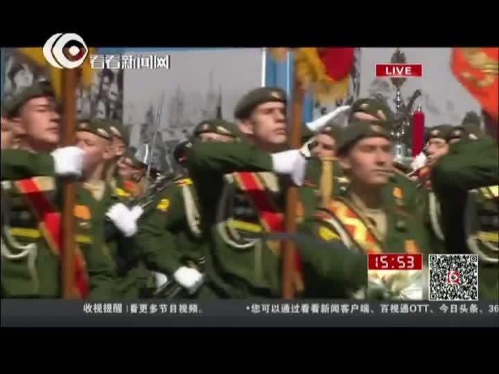 俄罗斯最高苏维埃指挥官培训学校接受检阅