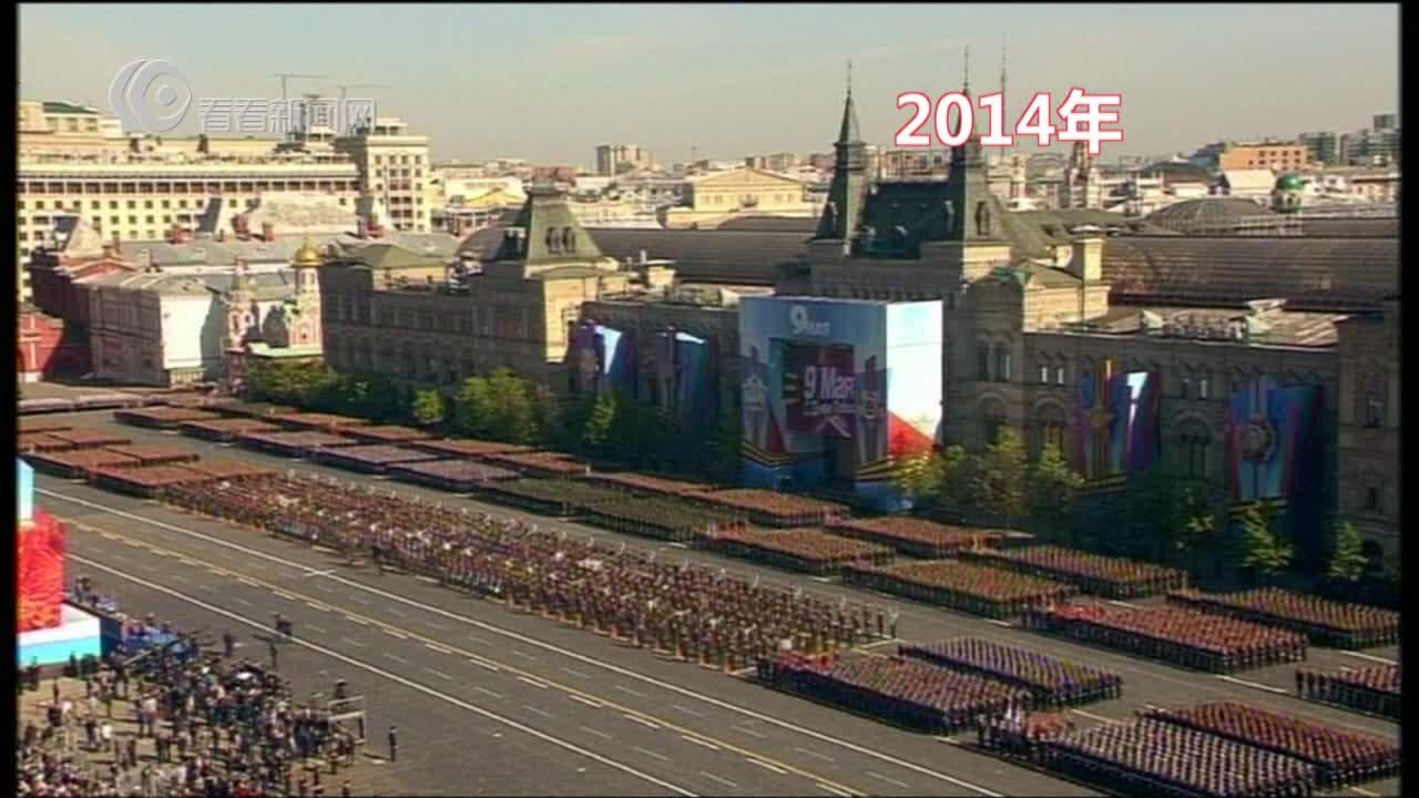 2014年 骑兵部队亮相阅兵式