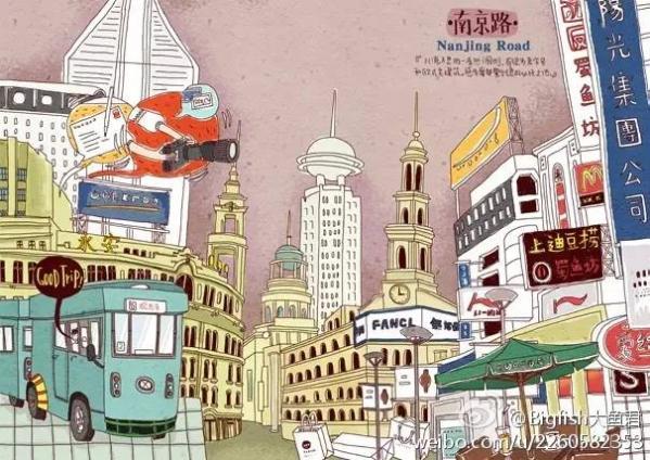 上海南京路是著名的繁华商业街