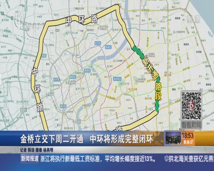 【视频】金桥立交下周二开通 中环将形成完整闭环-上海 交警夜查酒驾
