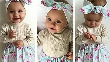 英国一岁半时尚萌娃走红网络 为35个婴儿品牌代言