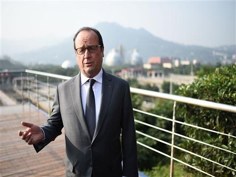 法总统奥朗德抵达重庆 参观重庆水务旗下项目