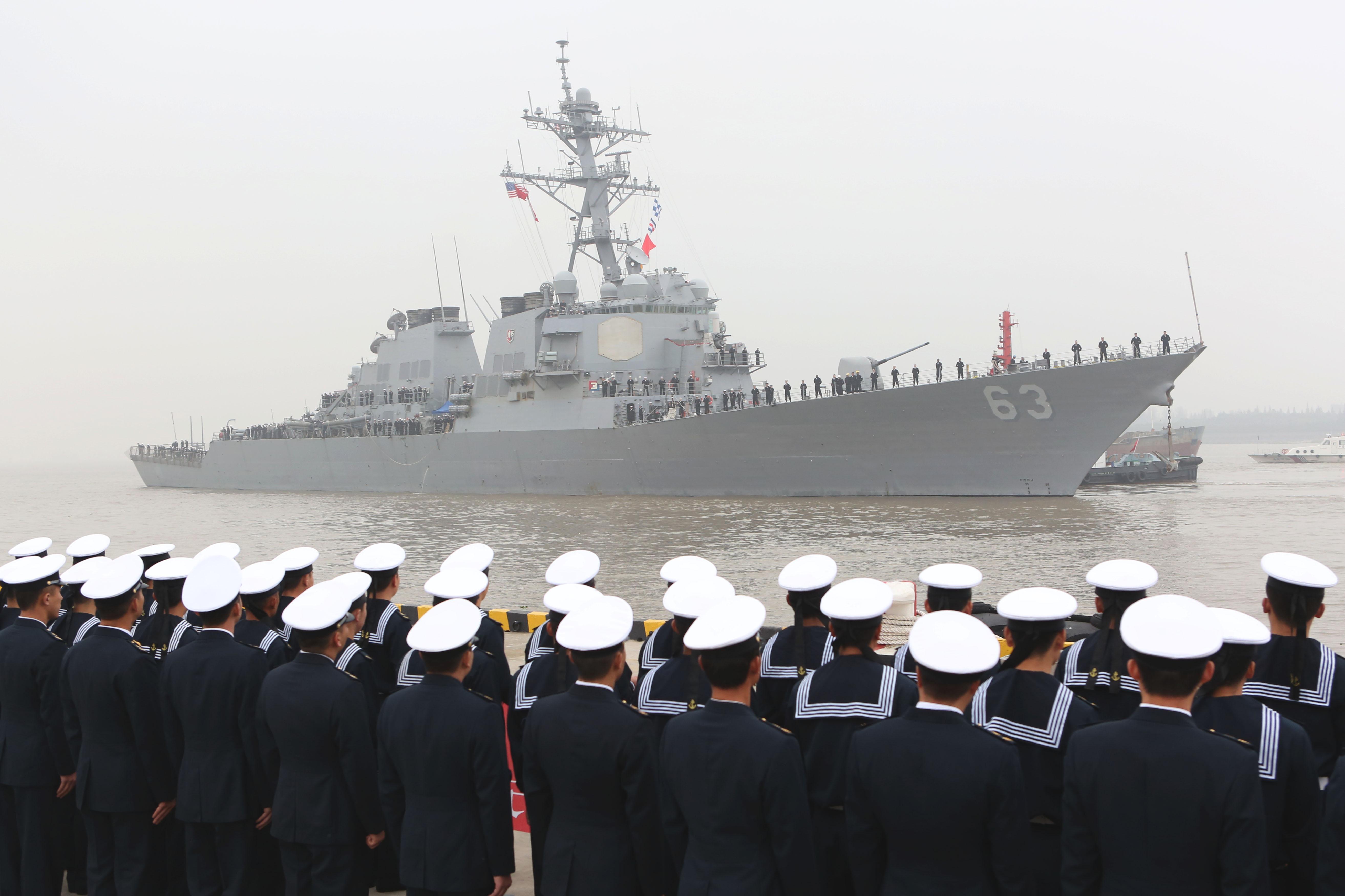 美国海军宙斯盾驱逐舰访问上海