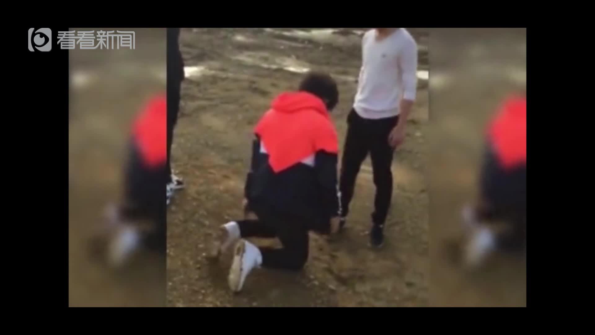 男子被逼下跪遭多人围殴 多次被打倒连连道歉