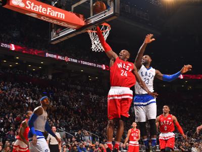 NBA全明星赛西部大胜 科比谢幕战拿到10分