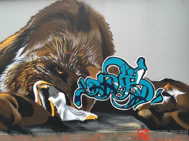 """甜爱路""""又见爱""""涂鸦墙今完成 九幅大型涂鸦点亮爱情街"""