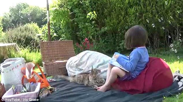 英国:小猫相伴形影不离 自闭症女孩开口说话