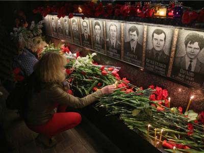 切尔诺贝利核事故发生30周年 乌克兰民众纪念遇难者