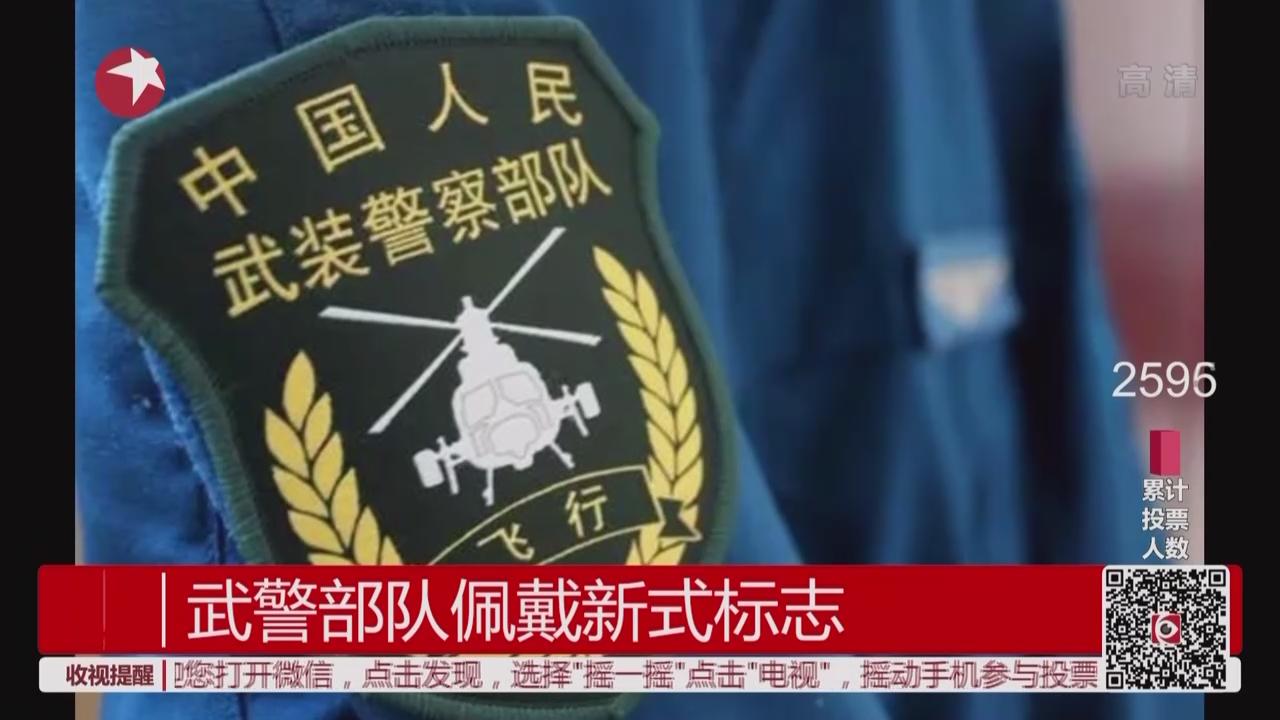 全国武警官兵全面佩戴新式标志、服饰