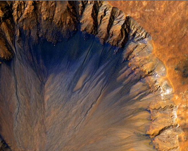 NASA观测火星地貌:地表崎岖起伏 色彩丰富多样