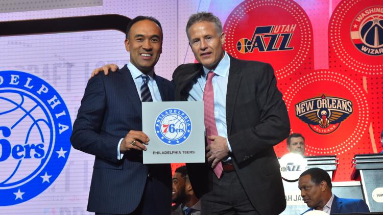 2016NBA选秀抽签大会 76人获得状元签