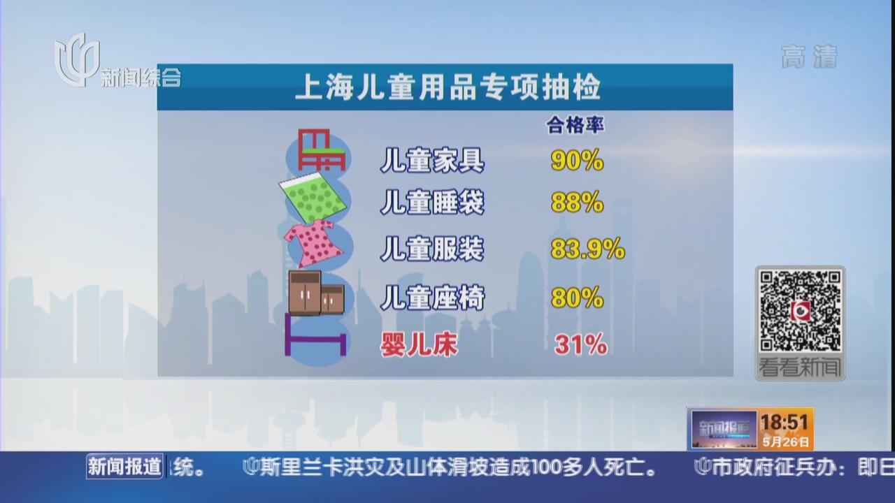 上海抽检儿童用品  婴儿床合格率仅31%
