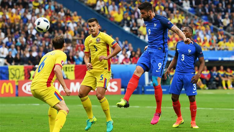 2016欧洲杯揭幕战 法国队2:1战胜罗马尼亚