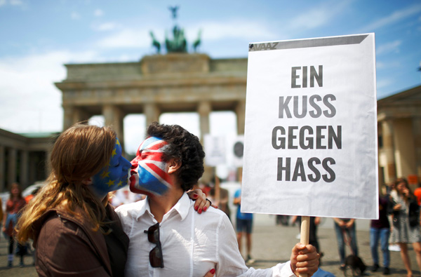 """德国政府表示英国应尽快就推迟""""脱欧""""提出申请"""