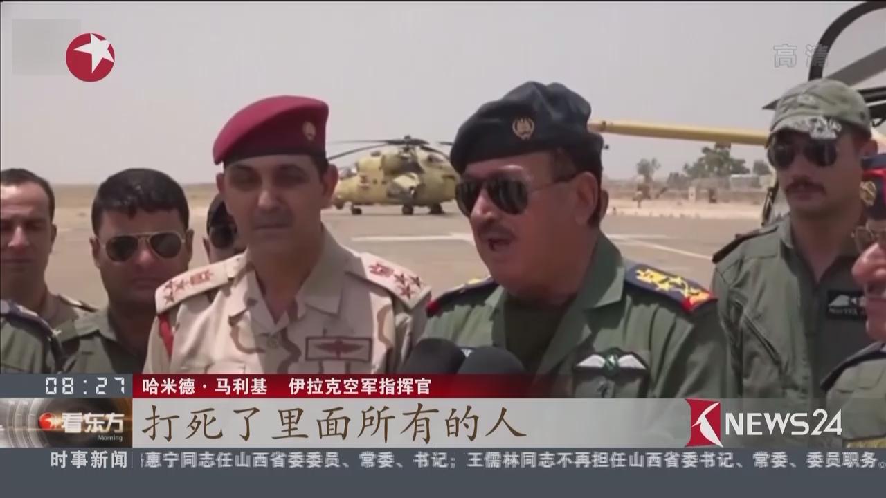 """伊拉克政府军空袭""""伊斯兰国""""车队"""