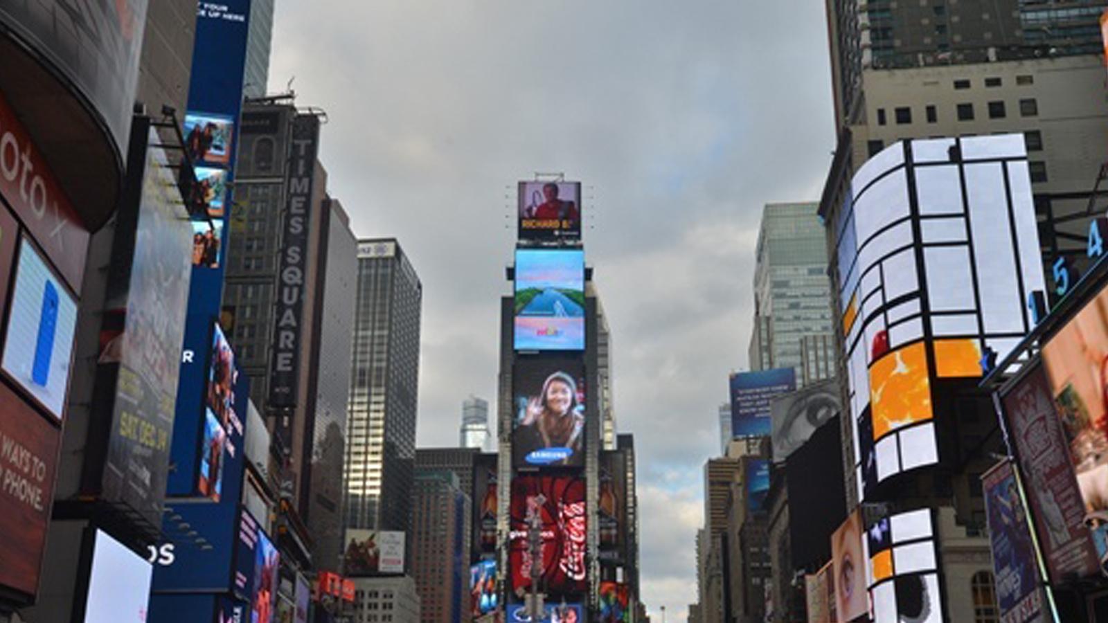 南海主题宣传短片亮相纽约时报广场 每天播出120次