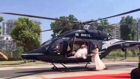 小宣说:直升机迎亲拦路谁来管?
