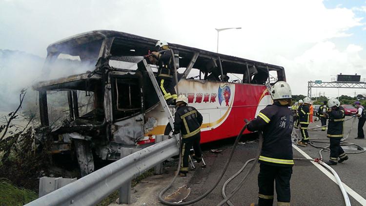 台游览车起火事故 不排除自焚
